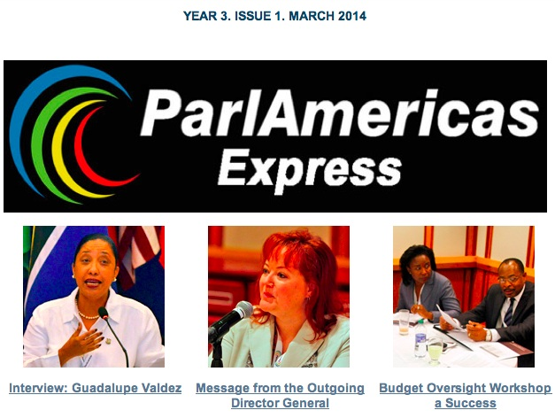 ParlAmericas Express Year 3 Issue 1 March 2014